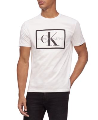 Men's Box Monogram Mesh Logo Graphic T-Shirt