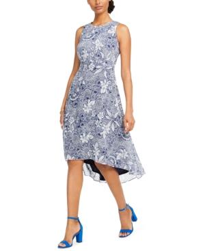 Taylor Floral-Print Fit & Flare Dress