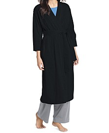 Long Cotton Wrap Robe