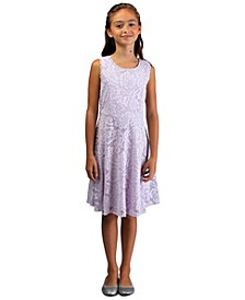 Big Girls Lace Skater Dress