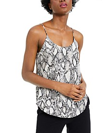 Snake-Print Woven Camisole, Created For Macy's