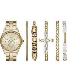 Women's Gold-Tone Bracelet Watch 36mm Gift Set