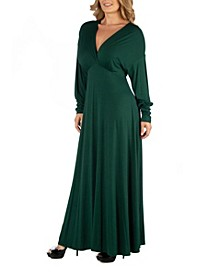 Formal Long Sleeve Plus Size Maxi Dress
