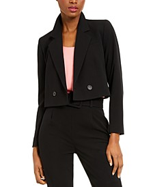 Cropped Double-Breasted Blazer, Created for Macy's