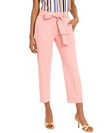 Bi-Stretch Belted Tie Pants, Created For Macy's