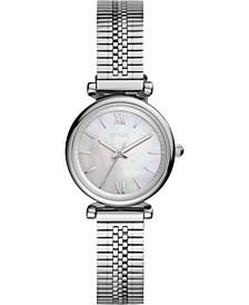 Women's Carlie Mini Stainless Steel Mesh Bracelet Watch 28mm