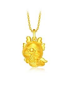 Dragon Charm Pendant in 24K Gold