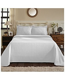 Medallion Jacquard Matelasse 2 Piece Bedspread Set, Twin