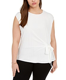 Plus Size Tie-Side Top