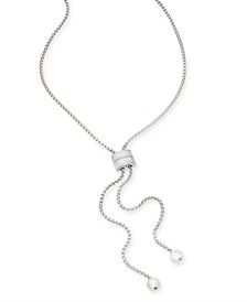 "Silver-Tone Imitation Pearl 41"" Adjustable Lariat Necklace, Created for Macy's"