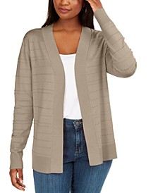 Petite Pointelle Cardigan, Created for Macy's