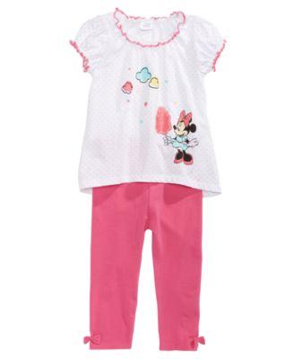 Piece Short Sleeve Minnie Mouse Legging Set Pants Set Disney Baby-Girls 2