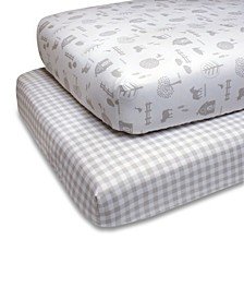 PS by Grey Farmhouse Fitted Crib Sheet 2-Pack