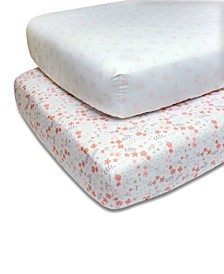 PS by Pink Floral Crib Sheet 2-Pack