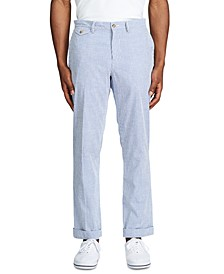 Men's Stretch Straight-Fit Seersucker Pants