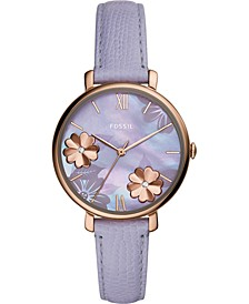 Women's Jacqueline Lavender Leather Strap Watch 36mm