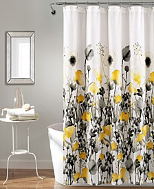 """Zuri Flora 72"""" x 72"""" Shower Curtain"""