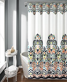 "Clara 72""x 72"" Bohemian Print Shower Curtain"