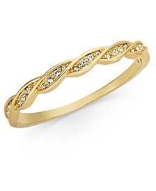 Gold-Tone Crystal Twist Bangle Bracelet, Created for Macy's