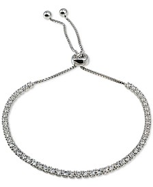 Cubic Zirconia Bolo Bracelet in Sterling Silver, Created for Macy's