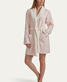 Women's Sweater-Knit Faux Sherpa Robe, Online Only