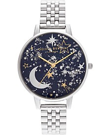 Women's Celestial Stainless Steel Bracelet Watch 38mm