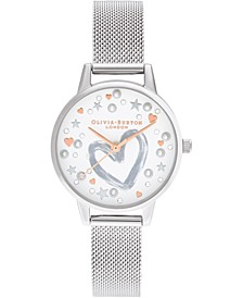 Women's Stainless Steel Mesh Bracelet Watch 30mm