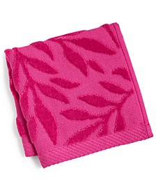 """CLOSEOUT! Trailing Flowers Cotton 12"""" x 12"""" Wash Cloth"""