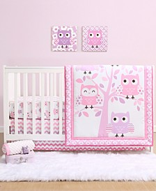 PS by Dancing Owls 3-Piece Crib Bedding Set