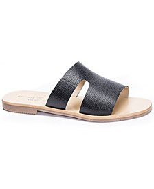 Mannie Flat Slide Sandals