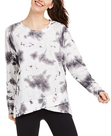 Tie-Dyed Crossover Hem Top, Created for Macy's