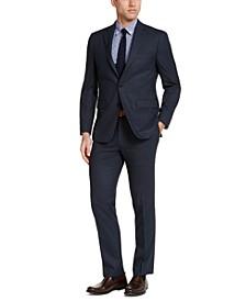 Men's Slim-Fit Blue Windowpane Suit