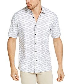 Men's Ikat Block-Print Linen Shirt, Created for Macy's