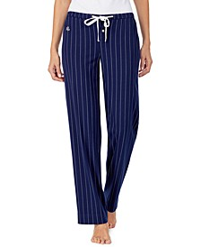 Striped Jersey Knit Pajama Pants