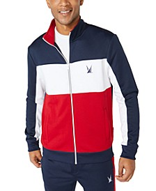 Men's Classic-Fit Colorblocked Track Jacket