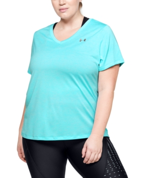 Under Armour Plus Size Short Sleeve Tech Tee In Medium Blue
