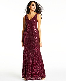 Juniors' Sequined Gown