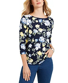 Petite Cotton Top, Created For Macy's