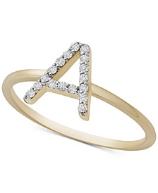 Diamond Initial A Ring (1/10 ct. t.w.) in 14k Gold