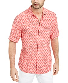 Men's Tropical Geo-Print Shirt