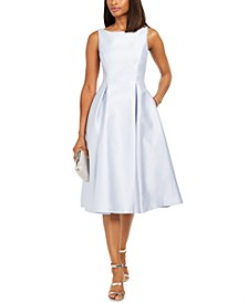 Boat-Neck A-Line Dress