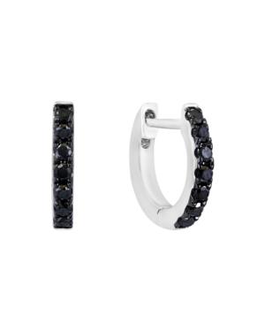 Black Diamond (1/4 ct. t.w.) Earring in 14K White Gold