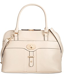 Turn-Lock Glazed Dome Satchel, Created for Macy's