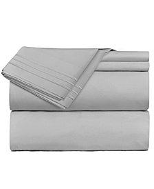 CLARA CLARK Premier 1800 Series 4 Piece Deep Pocket Bed Sheet Set, King