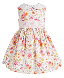 Baby Girls Floral-Print Peter Pan Collar Dress