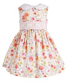 Baby Girls Floral-Print Peter Pan Collar Dress