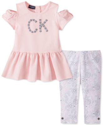 Toddler Girls 2-Pc. Cold-Shoulder Top & Floral Leggings Set