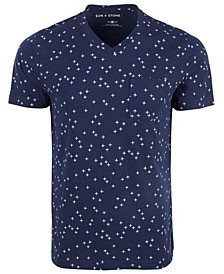 Men's Allover Cross Patterned T-Shirt, Created for Macy's