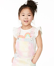 Toddler Girls Rainbow Heart Flutter-Sleeve T-Shirt, Created for Macy's