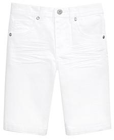 Toddler Boys White Denim Shorts
